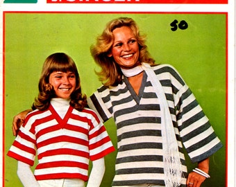 On Sale - Memo Matic Knitting Fashions by Singer for Family Book No 63 - Vintage 1970s