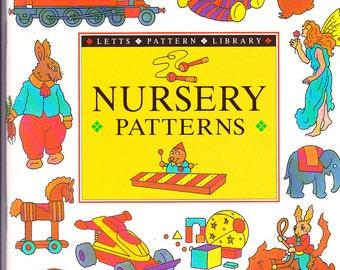 On Sale - Nursery Patterns - Letts Pattern Library -  Vintage Craft Book - 1990s