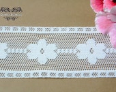 3 YARDS of White Lace Trim Ribbon 2 '' for Crafts, Sewing , Accessories