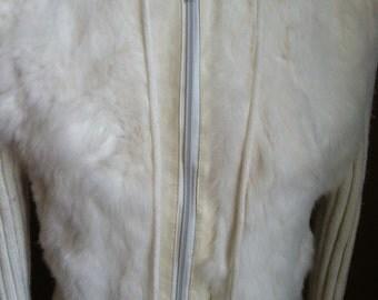 Coats, Vintage clothing, jacket, RABBIT fur JACKET retro 70S