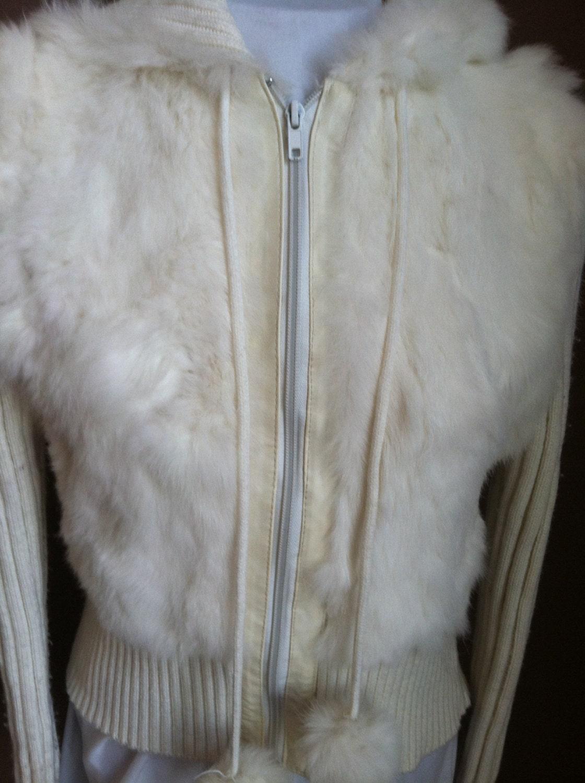 coats vintage clothing jacket rabbit fur jacket retro 70s