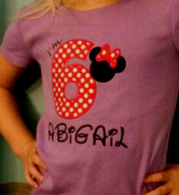 Reserved Listing for Melanie Semon Minnie Mouse Shirt