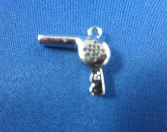 HAIR DRYER CHARM Blow Dryer Charm - Hair Dresser Gift - Sterling Silver Vintage Charm - Rembrandt Charm