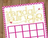 Bridal Bingo PRINTABLE Bridal Shower Game -- Chevron