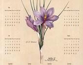 2013 Vintage look calendar old French Style (safran)