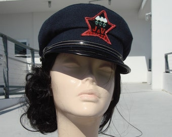 Customized vintage French Navy blue,rare, wool hat for men or women,size 56