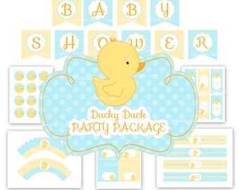 BABY SHOWER Rubber Ducky (Duckie) party package
