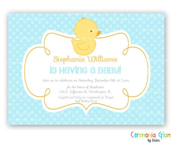 Ducky Invitations Baby Shower for good invitation ideas