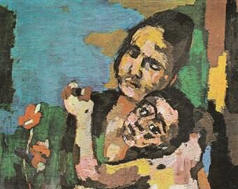 Large Oskar Kokoschka Art  Postcard - 216d