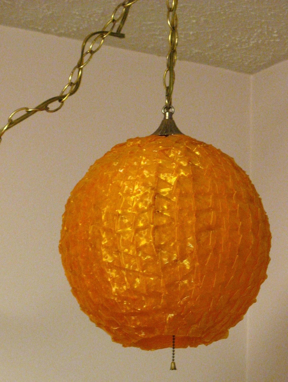 sale spaghetti ribbon lucite swag lamp by bitchinkitschkitchen. Black Bedroom Furniture Sets. Home Design Ideas