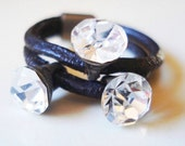 Discount : before 18 USD ... (leather ring Gotas de estrellas)