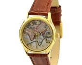 Ladies Map Watch (Eastern Hemisphere) - Women Watches