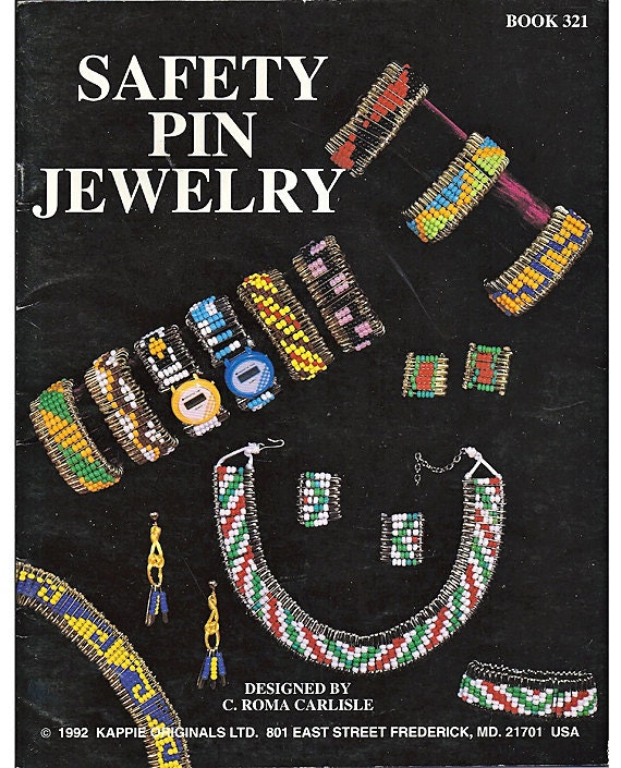 Safety Pin Jewelry Beading Pattern Book Kappie Originals 321