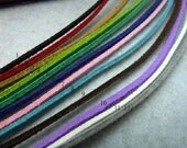 10 pcs 1m 2x1 mm Microfiber Suede Cord,Necklace cord , Bracelet rope, Ribbon Cords,Ropes Straps for Jewelry,diy accessories - roseo