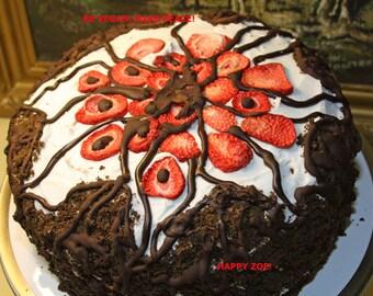 Vegan Chocolate cake and vegan cream cheese , love, animal free cruelty,no eggs,no dairy, new year promotion.