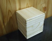 Unfinished Square Wood Wooden Box  for crafting, storage or packing