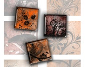 Mixed 1 Inch Square Images in Orange