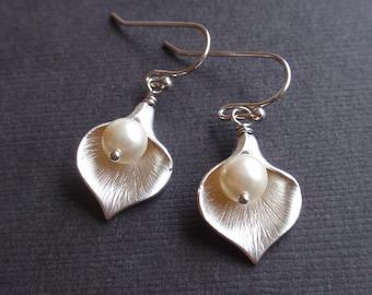 Cara Silver Earrings - bridesmaid gifts,elegant  Wedding jewelry