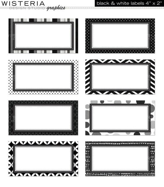 Items Similar To Black Amp White Labels 4 Quot X 2 Quot Instant