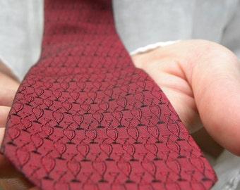 Mens Red Necktie