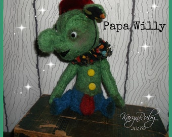 PDF EPattern  to make 10 inch 'Papa Willy  Bell Boy'   Vintage Style Toy Mohair Elephant by Artist KarynRuby