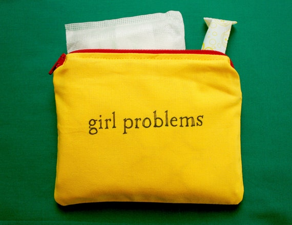 INdiscreet Zip Pouch for Tampons, Menstrual Pads, Feminine Products - girl problems