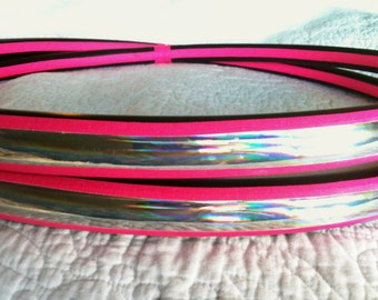 Rainbow Trail Dance & Exercise Hula Hoop COLLAPSIBLE or Push Button  budget hoop