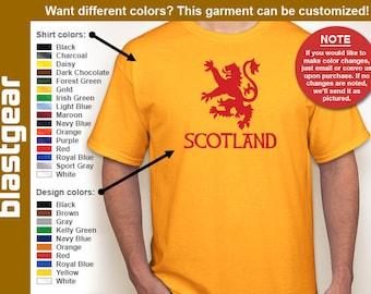 Scotland Rampant Lion T-shirt — Any color/Any size - Adult S, M, L, XL, 2XL, 3XL, 4XL, 5XL  Youth S, M, L, XL
