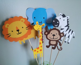 5  Safari Jungle sticks great for centerpieces or party decorations