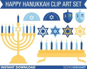 Hanukkah Clipart, Hanukkah Clip Art, Chanukah Clipart, Jewish Clipart, Jewish Clip Art, Dreidel Clipart, Menorah Clipart