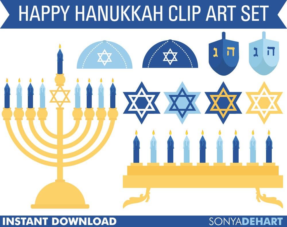 50% OFF SALE Hanukkah Clipart Hanukkah Clip Art Chanukah