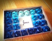 Blue Rose Name Plate / Sign, Origami, Paper-made, Paper Craft, Completely Personalized / Customized, Blue, Red, Pink, Orange, White, Yellow