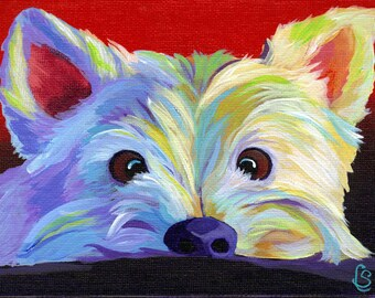 Westie Dog - Giclee Art PRINT - By Corina St. Martin