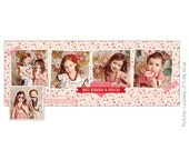INSTANT DOWNLOAD - Valentine Facebook Timeline Cover template - E647