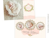 INSTANT DOWNLOAD - Birth announcement template - Classic Beauty  - E759