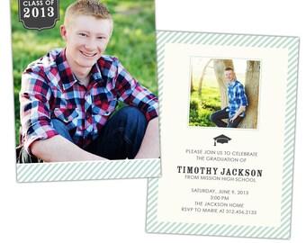 INSTANT DOWNLOAD - Graduation announcement - Photoshop Templates - E791