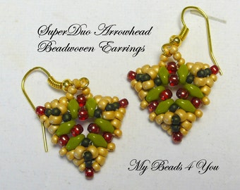Bead Woven Earrings, Seed Bead Earrings, Beaded Earrings, Beadwork, Beadwoven Earrings, Beaded Jewelry, Beadwork Tutorial