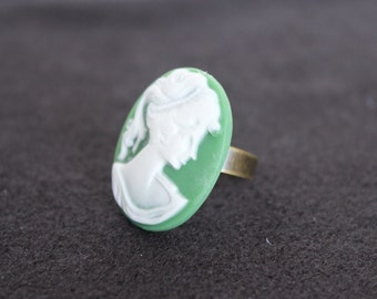 Cabochon Adjustable Ring