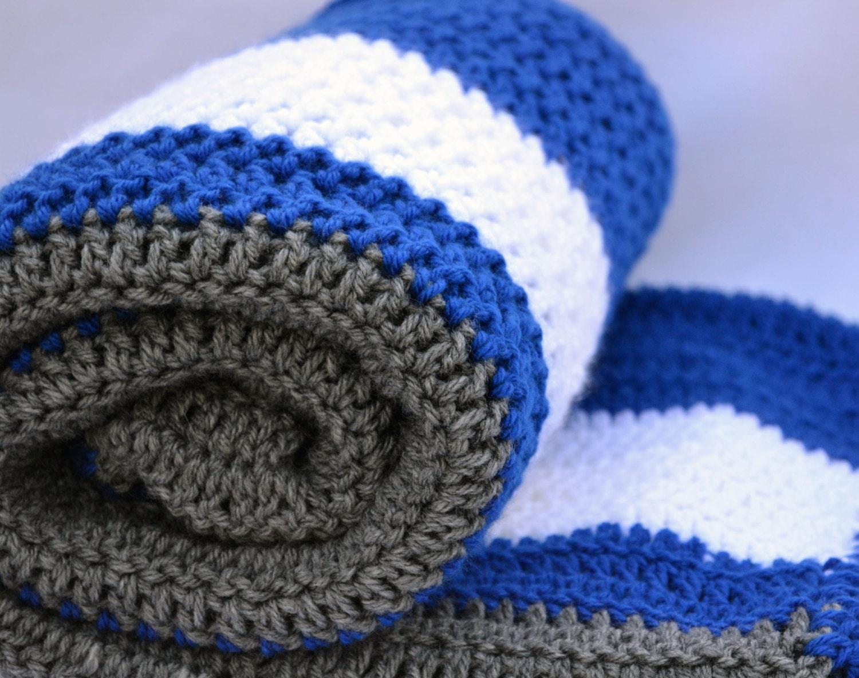 Dodger Fan Inspired Crochet Blanket Afghan Lap Blanket