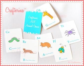 ABCs of Animal Dances Flashcards - Printable PDF- DIY Craft Kit - Party Favor- Child Toy - Play & Pretend - Ballet