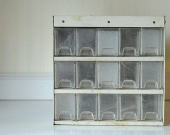 Vintage Parts Drawers Industrial Parts Bins Metal Storage Drawers