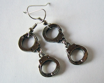 Bad Girls -- Handcuff Earrings