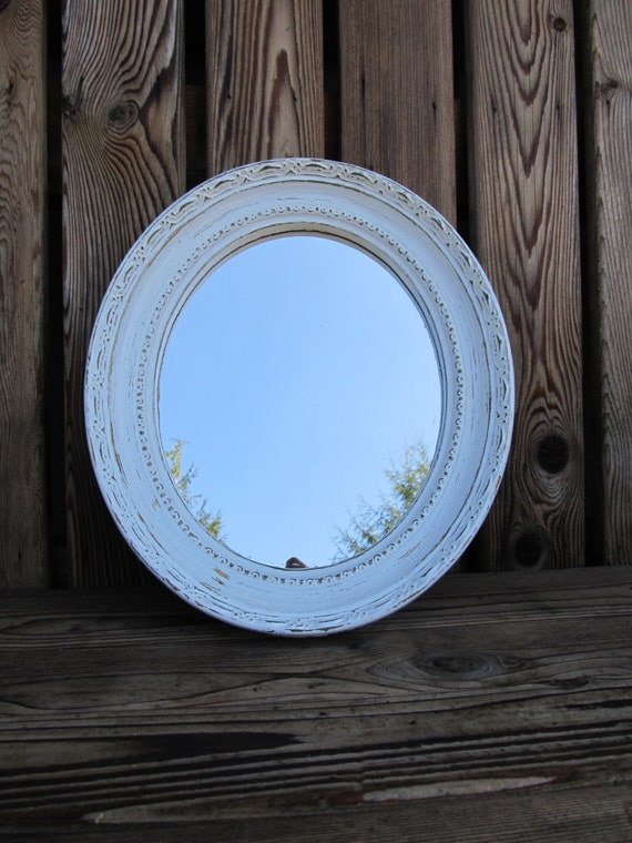 Shabby Chic White Ornate Wall Mirror