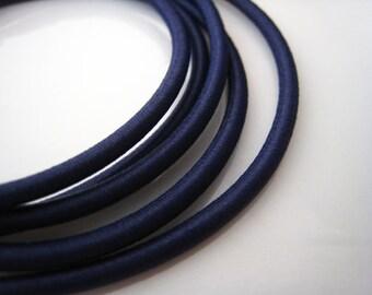 A193 - 1 Yard of 2.5mm Dark Blue Sapphire Round Stretch Elastic Drawcord Rope Cord