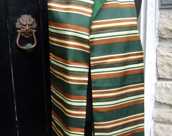 SAKS FIFTH AVENUE Striped Long Unisex Scarf Made in Italy c 1970