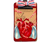anatomy series heart 2, mixed media heart, collage heart, cabinet of curiosities heart, heart, print