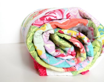 Baby Girl Bright Flowers Quilt