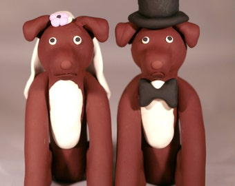 Pit Bull Pitbull Dog Wedding Cake Topper