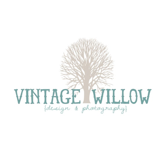 Items Similar To Vintage Willow Tree Design Premade Business Logo For Photography And Small Use On Etsy