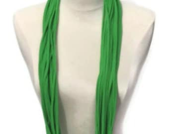 Lime Light Green Infinity Upcycled T-shirt Scarf